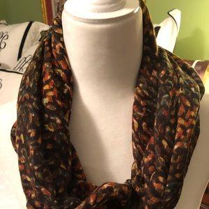 J.Jill Scarf. Fall colors-light weight fabric